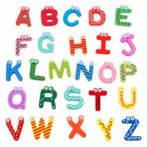 Kids 26 a z letters magnetic letters wooden alphabet for Magnetic alphabet letters for toddlers