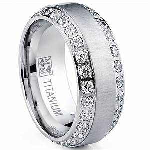 MENS OR WOMENS Eternity TITANIUM LCS DIAMOND WEDDING BAND