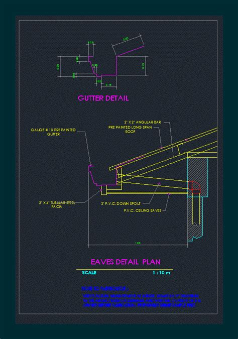 eaves detail dwg plan  autocad designs cad