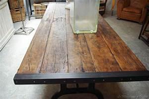 Table Bois Brut : table bois brut mobilier furniture pinterest table bois brut table bois et bois brut ~ Teatrodelosmanantiales.com Idées de Décoration