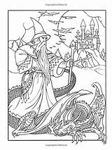 Coloring Pages Wizards Colouring Adults Dover Books Adult Noble Wizard Amazon Dragon Bakugan Sheets Marty Drago Wondrous Printable Mandala Pagan sketch template