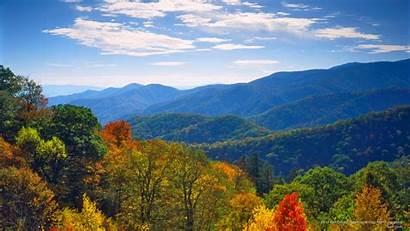Smoky Mountains Fall Mountain Desktop Pink Carolina