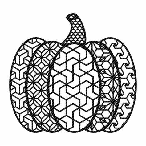 Freebie designed by daniele de santis. Zen pumpkin zentangle fancy fall autumn halloween mandala ...
