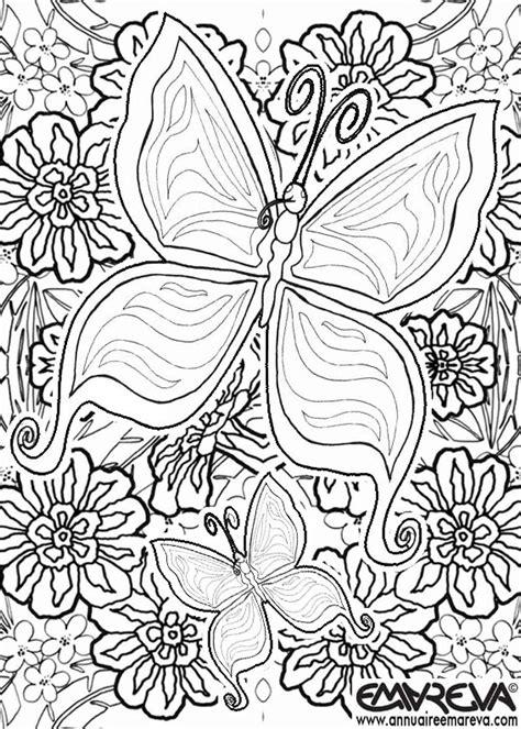 Coloriages Mandala Papillon Adultes
