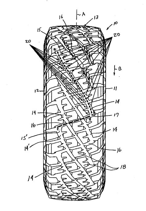 Patent US20120279623 - Off-road tire tread having strake