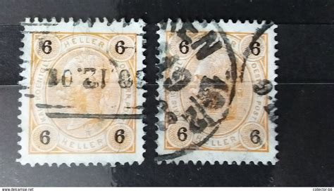 Rare 2*6 Heller Osterreich Austria 1892 Franz Joseph Used
