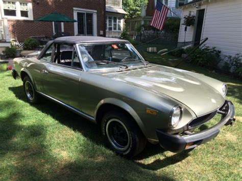 1980 Fiat Spider 2000 For Sale by Fiat Other Convertible 1980 Metallic Green For Sale