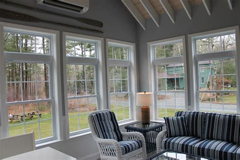 sunroom  exposed rafter ceiling andersen windows  mattapoisett ma contractor cape