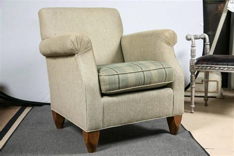Pair Of Baker Overstuffed Armchairs At 1stdibs