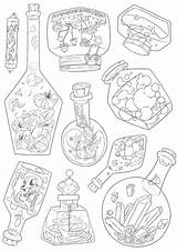 Potion sketch template