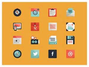 icon design 30 best exles of modern flat icon set mkels