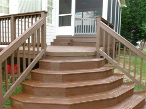 Front Porch Cool Front Porch Design With Walnut Wood Deck