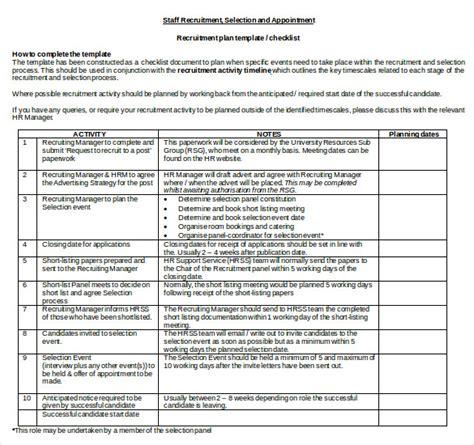 recruitment plan 15 recruitment strategy templates free sle exle format free premium