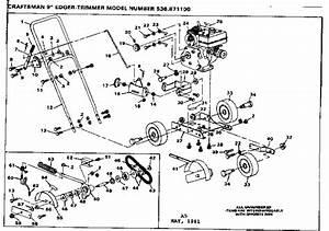 Craftsman Model 536871100 Edger Genuine Parts