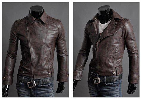 New Pu Leather Jacket Men Fashion Slim Motorcycle Jackets