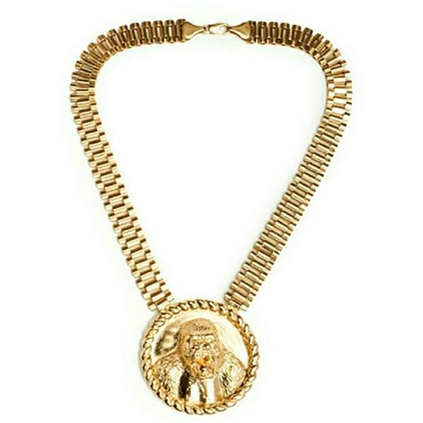gold rolex link style necklace 16 inch from s