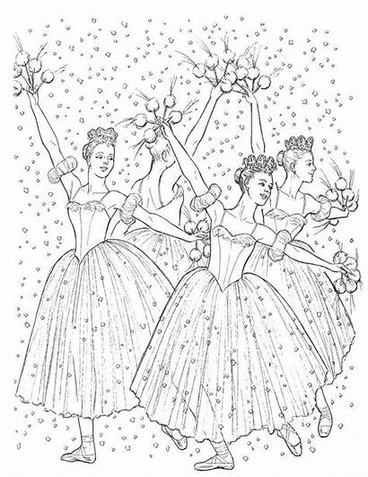Coloring Nutcracker Ballet Pages Christmas Dance Colouring