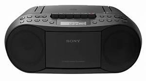 Radio Cd Kassette : sony black cd radio cassette recorder boombox cfds70blk ~ Jslefanu.com Haus und Dekorationen