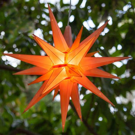 moravian stars  amber led moravian star