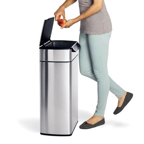 poubelle cuisine 40 litres notre avis sur la poubelle simplehuman 40l touch bar inox