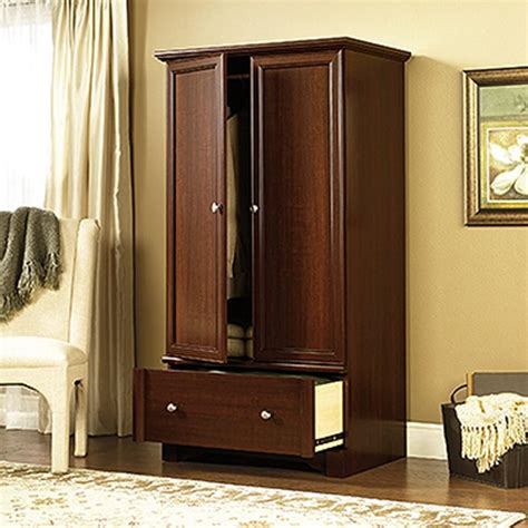 Armoire Cherry by Sauder Palladia Select Cherry Armoire 411843 The Home Depot