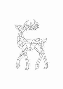 Affiche scandinave cerf majestueux a telecharger for Affiche chambre bébé avec fleurs deuil rennes