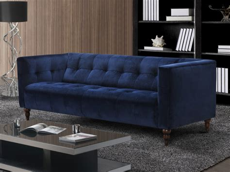 canapé bleu nuit canapé et fauteuil en velours vintage bleu ou gris margaux