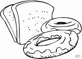 Bread Colouring Coloring Printable Clipart sketch template