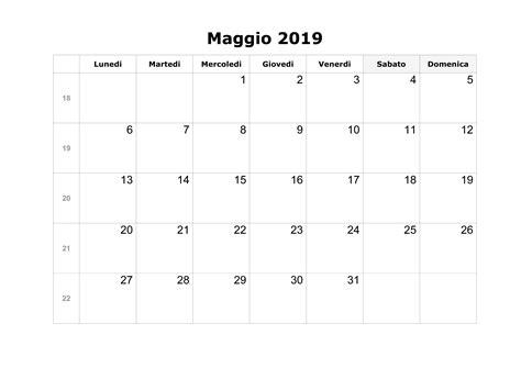 calendario annuale 2019 da stare gratis calendario maggio 2019