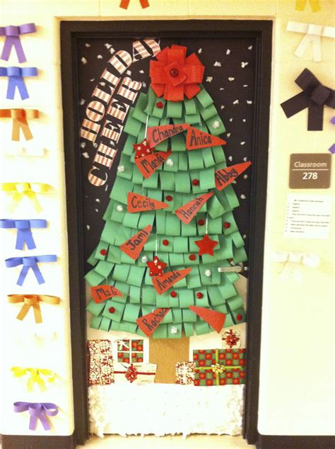 high school christmas door decoration festival collections