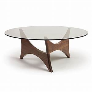 pivot glass top round coffee table by copeland furniture With circular glass top coffee table