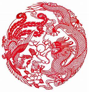 Chinese Dragon And Phoenix Symbol