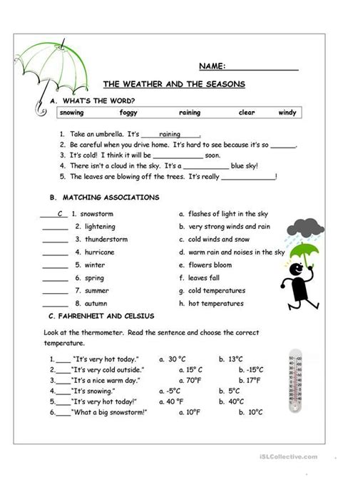 great assessment  weather   seasons