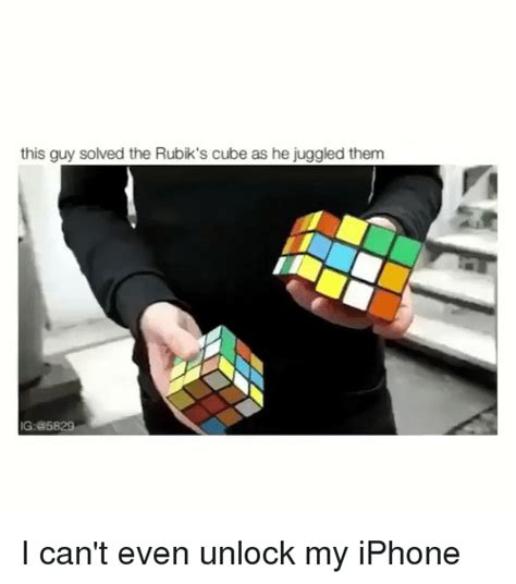 how can i unlock my iphone this solved the rubik s cube as he juggled them ig i