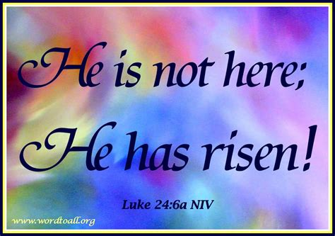 We can trust the bible because it points us to the most important events in human history: He is not here; he has risen! Remember how he told you, while he was still with you in Galilee ...