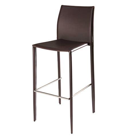 chaises en cuir chaise de bar en cuir recyclé et métal chocolat klint