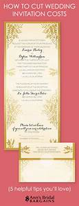 how to cut wedding invitation costs ann39s bridal bargains With how to price wedding invitations