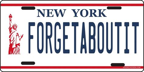 Vanity Plates Ny by New York Liberty Forget About It License Plate Made In