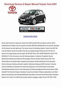 Download Service Repair Manual Toyota Yaris 2 By Yu Kierce