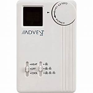 Advent Air Acth11 Analog Air Conditioner  Furnace Thermostat