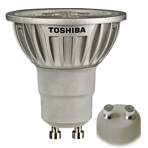 led sp t vtac gu10 5watt led mr16 6 5 watt 120v toshiba 7gu10 827nfl25