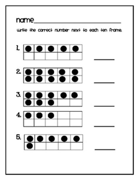 ten frame math for kindergarten freebie by miller