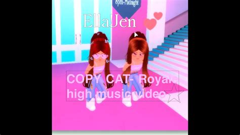 You can easily copy the code or add it to your favorite list.    COPYCAT - Royale high music video- Billie Eilish    - YouTube