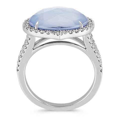 blue lapis white topaz  mother  pearl duet diamond