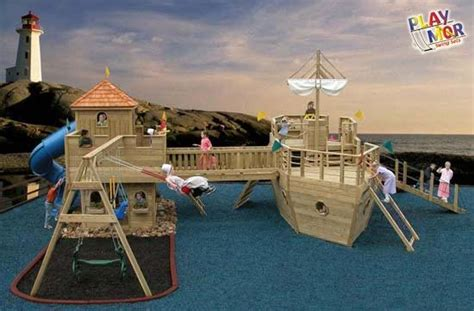 Pirate Ship Backyard Playset by This Would Be Awesome To Put In The Backyard Child S