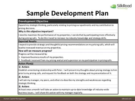 employee development plan template sle employee development plan search engine at search