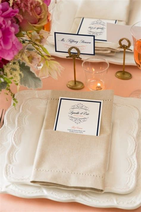 these lovely menus and place cards are easy to create