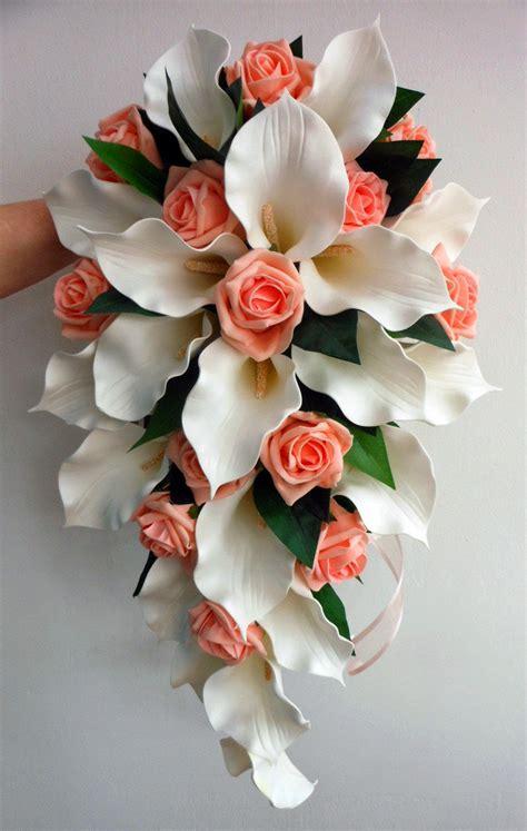 peach roses  lily bouquethttprefreshroseblogspotcom