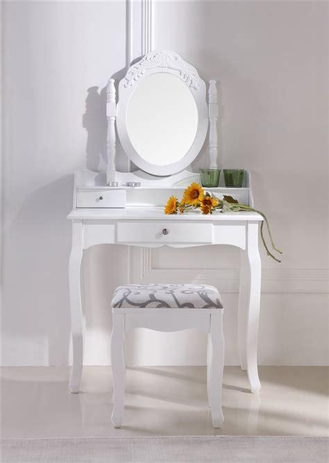 siege coiffeuse coiffeuse blanche avec siège et miroir 35 f