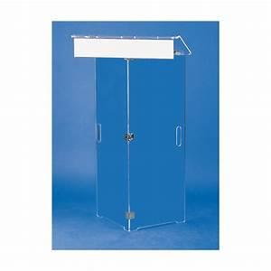 Meuble Plexiglas Transparent : pupitre pliable en plexiglass ~ Edinachiropracticcenter.com Idées de Décoration